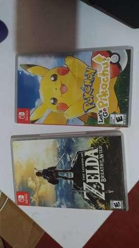 Juegos Nintendo Switch Zelda & Pokemon Lets Go