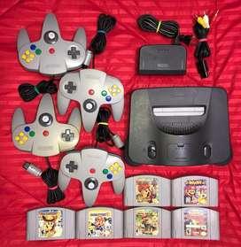 Nintendo 64 Controles Y Juegos Incluidos
