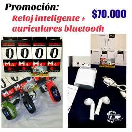 Super Promoción!! Auriculares bluetooth + Reloj inteligente.