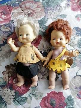 Pebbles y ban ban muñecos antiguos bartoplas