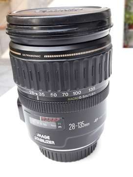 Lente Canon 28-135mm F:3.5-5.6 Is Macro 0.5m/1.6ft Stabilize