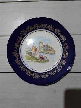 Plato Decorativo Fuente Porcelana Essex