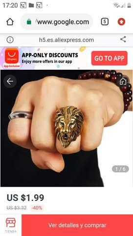 Sortija de cobre de Cabeza de león