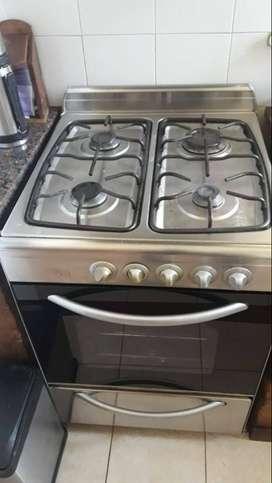 Cocina acero inoxidable 55 cm impecable