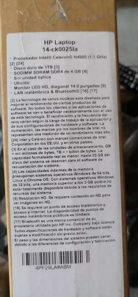 Hp nuevo 12 medes de garantia