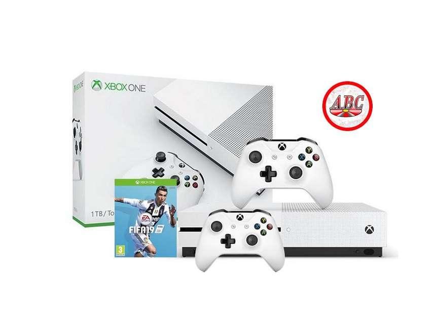 Consola Xbox One S 1Tb Fifa 19  Extra Control Original 0