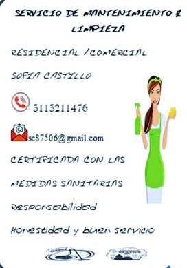 Servicio de limpieza y mantenimiento general