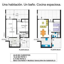 Depto 1 Dorm Pleno Centro San Luis