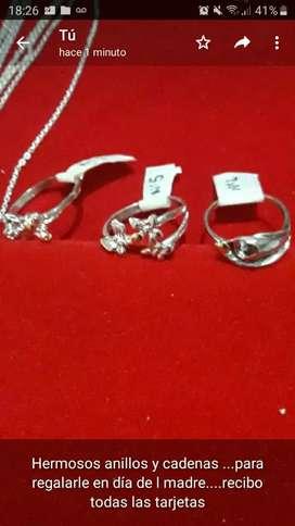Anillos y cadenas de plata
