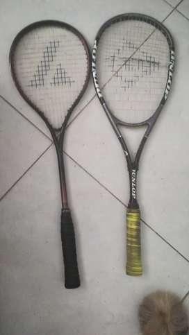 Raquetas squash usadas