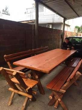 Vendo mesa de 3 metros completa