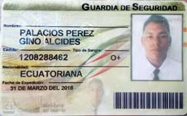 Busco empleo de guardia