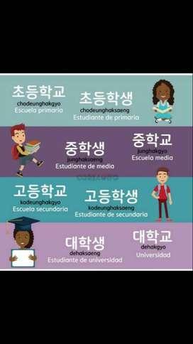 Clases de coreano.