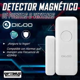 Seguridad - Sensor Detector Magnético Para Puertas O Ventanas Digoo GSM Para Alarmas De 433 MHz