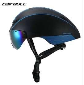 Casco De Bicicleta MTB/RUTA Con Lente Magnetico Incluido Aero-R1 CAIRBULL Azul Con Negro