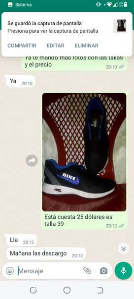 Venta de zapatillas o más conocidas como lonas