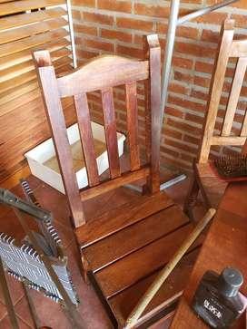 Mesa algarrobo + 8 sillas