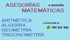 ASESORIAS DE MATEMATICA