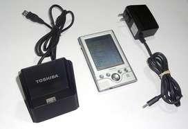 Agenda Electronica PDA Toshiba e310 Pocket PC con Cradle Original y cargador. Operativo y excelente estado as iPaq Palm