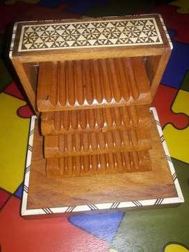 Caja musical en madera