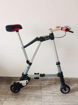 Tipo: bicicletas plegables para recorridos cortos por el tamaño de las ruedas. Estado usada  8/10