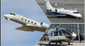 Renta de aviones, helicópteros y vuelos chárter.