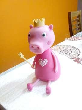 Vendo adorno torta Peppa pig en porcelana fra