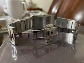 Vendo reloj Versace NLQ 99 Plata cuadrante cuarzo reloj hombre usado como nuevo !!