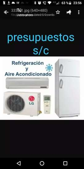 Refrigeracion reparación de heladeras aires acondicionados cámaras frugorificas