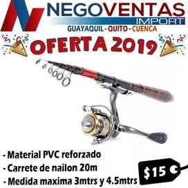 CAÑA DE PESCAR DEPORTIVA DE 3 METROS