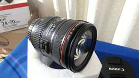 Lente canon 24-70 f/4L IS USM Perfecto estado