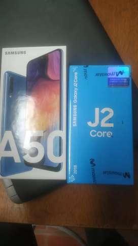 SAMSUNG A50 + J2 Core NUEVOS
