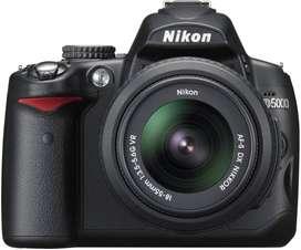 canon d5000 +  lente 18-55 mm