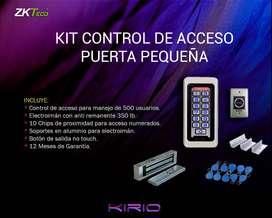 Kit control de acceso puerta pequeña para interiores.