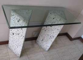 Vidrio con Piedras tipo mesa