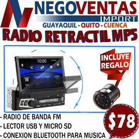 RADIO DE CARRO RETRACTIL MP5