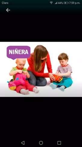 Busco trabajo como niñera tengo disponibilidad de tiempo Y recomendaci