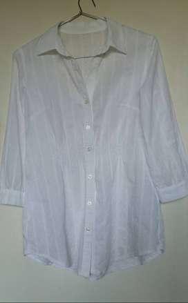 Camisa mujer blanca algodon