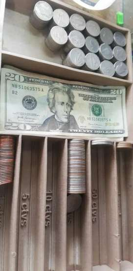 Ordenador de dinero caucho