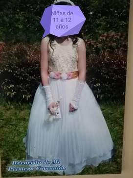 Hermoso Vestido Primera Comunión 200