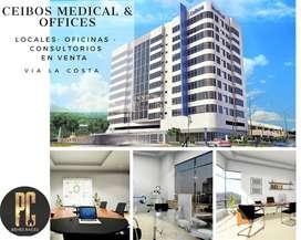 Venta proyecto Ceibos Medical, oficinas, consultorios y locales comerciales, vía a la Costa