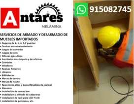 ARMADO Y DESARMADO DE MUEBLES DE MELAMINA