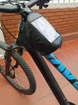 Portacelular y alforja para bicicleta
