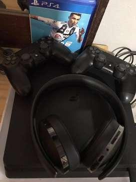 PS4 SLIM 1tb. NUEVA. sin auricular