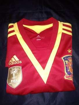 ADIDAS camiseta original Selección española firmado por el Niño Torres, talla L