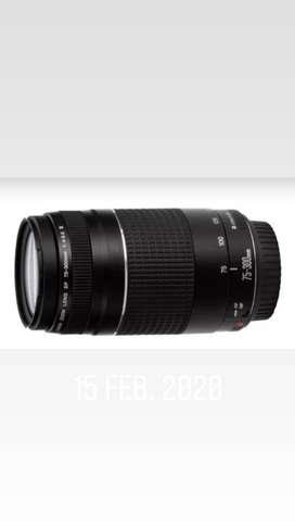 Se vende lente canon 75-300