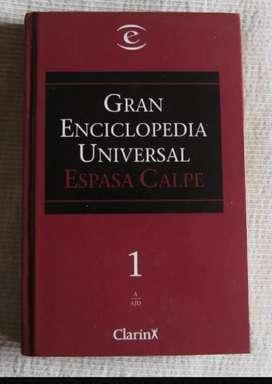 GRAN ENCICLOPEDIA UNIVERSAL ESPASA CALPE (CLARIN) 40 TOMOS COMPLETA