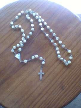 Collar ROSARIO Antiguo De NACAR!!! IMPECABLE!!!