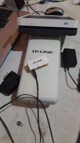 Recector de internet y router repartidor wifi