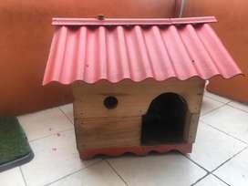 Casa Madera Mascota Raza Pequeña